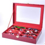 <b>fashion</b> wooden stucture PU leather 8-grid glasses, suglasses storage box <b>jewelry</b> organizer <b>jewelry</b> organizer for sunglass YJ005
