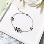 Fashion Clover Flower Charm Bracelet For Women Girl Bracelet Adjustable Pulseras Mujer <b>Wedding</b> Bridal <b>Jewelry</b> Gift Silver Gold