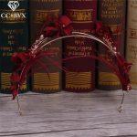 CC <b>Jewelry</b> <b>Handmade</b> Flowers Crowns Tiaras Bride Jewellry Hairbands For Women Party Wedding Hair Accessories Hair Ornaments 1425