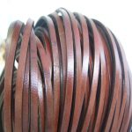 <b>Fashion</b> <b>Jewelry</b> 5 Meters 5mm Real Flat Dark Red Genuine Leather Strip Belt Bracelet Necklace Leather Cord <b>Jewelry</b> Making