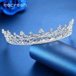 Mecresh Gorgeous Rhinestone Bridal Crown Tiara Plant Crystal European Wedding Hair Accessories <b>Jewelry</b> Christmas Gift HG003