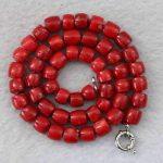 red natural coral 8-10mm irregular cube abacus beads chains necklace semi-precious stone <b>jewelry</b> <b>making</b> 18inch B1023