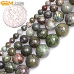 "Gem-inside 4-10mm 15"" A Grade Natural Round Semi Precious Dark Green Cuprite Jasperss Beads For <b>Jewelry</b> <b>Making</b> Beads DIY Beads"