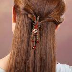 Chinese Style Handmade <b>Fashion</b> <b>Jewelry</b> Accessories Hair Claws Natural Stone Hair <b>Jewelry</b> Metal Hair Clip For Women Girls Popular