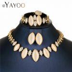 AYAYOO <b>Jewelry</b> Sets For Women Nigerian Wedding African Beads <b>Jewelry</b> Set Gold Color <b>Necklace</b> Set Girls Turkish Jewellery