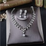 CC <b>Jewelry</b> bridal <b>jewelry</b> sets wedding necklace earring bracelet set pearl wedding party <b>accessories</b> for women Engagement TL211
