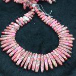 New Beautiful Pink Stone Necklace Point Pendant Beads, Top Drilled Women Fashion <b>Jewelry</b> Spike DIY <b>Making</b> Finding Gems