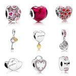 Collection Love Gradient Hearts Bead Charm 2018 Valentine 925 Sterling <b>Silver</b> Of Original Brand <b>Bracelet</b> Jewelry Berloque W/Logo