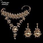 Dvacaman Brand Champagne Crystal <b>Jewelry</b> Sets Women Indian Bridal Rhinestone Statement Necklace&Earrings Custom <b>Accessory</b> KK31