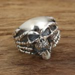 Factory wholesale sterling silver <b>jewelry</b> <b>handmade</b> silver rings personality S925 Mens funny skull ring.