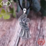 WK 925 Sterling <b>Silver</b> Woven Filaments Design Retro Banquet Dress Shape Pendant <b>Necklace</b> Party Jewelry Gift For Women 4W NZ087