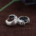 925 Silver Hoop Earrings for Women <b>Jewelry</b> 100% S925 Sterling Silver boucle d'oreille Earring christmas gift