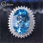 Super luxurious <b>silver</b> topaz ring 13 mm * 18 mm natural swiss blue topaz ring for evening party solid 925 <b>silver</b> topaz <b>jewelry</b>