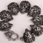 Stainless steel men <b>bracelet</b> skull cross biker heavy jewelry gifts wholesale dropshipping 313 <b>silver</b> tone