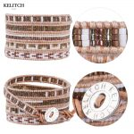 KELITCH bracelet 5 Wrap crystal seed beads Bracelets For Women <b>Jewelry</b> Accessoires <b>Handmade</b> DIY Multilayers Strand Bijoux