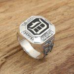 Factory wholesale sterling silver <b>jewelry</b> <b>handmade</b> silver rings S925 retro male vampire diaries D ring