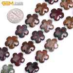 Gem-inside 15mm Natural Rhodonite Rose Plumeria Ocean Agates Flower Shape Stone Beads For <b>Jewelry</b> <b>Making</b> DIY 15inches