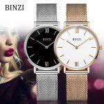 BINZI Women Watches Luxury Gold <b>Silver</b> Geneva Waterproof Quartz Ladies Wrist Watch Relogio Feminino montre femme Female Clock