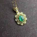 natural green emerald gem pendant S925 <b>silver</b> Natural gemstone Pendant Necklace trendy Lovely women <b>jewelry</b>