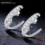 ANFASNI 925 Sterling Silver High Quality Exaggerated Earrings <b>Jewelry</b> Fashion Cubic Zirconia <b>Jewelry</b> For Women <b>Wedding</b> Party