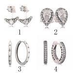 925 Silver Hearts Hoop Earring Droplets Radiant Teardrops Fairytale Tiara Earring Clear CZ <b>Fashion</b> Gift fit Lady <b>Jewelry</b>