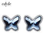 Cdyle Crystals From Swarovski Women Earrings Luxury Blue S925 Sterling Silver <b>Fashion</b> <b>Jewelry</b> Austrian Rhinestone Sexy Series