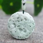 Drop shipping Natural AAA Jadeite Jades Pendant 3D <b>Handmade</b> Carved Chinese Dragon Pendants Gift for men Amulet <b>Jewelry</b>+Rope