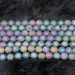 10mm Druzy Beads Metallic Titanium Coated Druzy Quartz Stone Necklace Beads, Round Loose Beads <b>Jewelry</b> <b>Making</b>