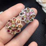 Brazil rainbow tourmaline!925 sterling <b>silver</b> rings natural gemstone mystic bulgaria <b>jewelry</b> for women HAIW bohoboho trendy