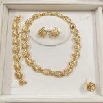 KINGDOM MA Fashion Statement Necklace Dubai Bridal Party <b>Jewelry</b> Set Wedding African Metal <b>Accessories</b> For Women