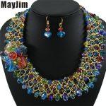Statement necklace 2018 fashion <b>jewelry</b> sets <b>Handmade</b> beads chain crystal flowers dubai <b>jewelry</b> sets Vintage Bijoux Accessories