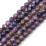 round Natural charoite beads natural GEM stone beads DIY loose beads for <b>jewelry</b> making strand 15″ free shipping wholesale !