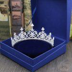 Micro Inlays Full Cubic Zirconia Clear CZ Zircon Stone <b>Wedding</b> Tiaras Crown Princess Coronet Coroa Brides Bridal Hair <b>Jewelry</b>