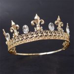Adjustable Magnificent Vintage Men Gold Crown For <b>Wedding</b> Prom Kings Headdress Tiaras and Crowns Hair <b>Jewelry</b> Accessories