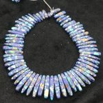 New Beautiful Blue Stone Necklace Point Pendant Beads, Top Drilled Women Fashion <b>Jewelry</b> Spike DIY <b>Making</b> Finding Gems