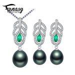 FENASY Pearl Jewelry Sets,Pearl Pendant Necklace <b>Earrings</b> For Women,fine engagement ring Leaves leaf big <b>earrings</b> set