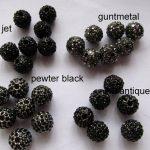 Hematite grey micro pave bling round spacer bead Round Hematite Gunmetal <b>Antique</b> Silver Gold gunmetal Finding 20pcs 6-14mm