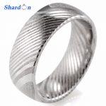 SHARDON <b>Wedding</b> & engagement <b>jewelry</b> Men's rings 8mm trendy Damascus Steel ring <b>Wedding</b> band with size 8-13