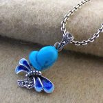 FNJ 925 Silver Butterfly Pendant Real S925 Solid Original Silver Natural Yellow Stone Pendants for Women <b>Jewelry</b> <b>Making</b>