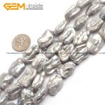 Pearl Beads Biwa Shape Pearl Beads Fashion <b>Jewelry</b> Beads DIYJewelry <b>Making</b> DIY Christmas Gift Strand 15inch