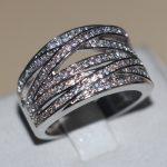 Vecalon <b>Handmade</b> Cross Women <b>Jewelry</b> Pave set AAAAA Zircon Cz Wedding Band Ring White Gold Filled Female Finger ring