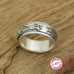 S925 sterling silver men's ring <b>jewelry</b> <b>handmade</b> retro classic personality style rotating dragon shape 2018 new gift to send