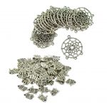 70 Pieces Wholesale <b>Native</b> <b>American</b> Indian Dream Catcher & Hand Palm Earring Necklace DIY Connector Pendant