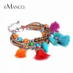 eManco Bohemian Charming Bracelets Gifts for Women Beads of <b>Making</b> Multi Color Tassel Bracelets Bracelet Wristband <b>Jewelry</b>