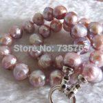HOT Lavender Kasumi Freshwater Pearl <b>Necklace</b> <b>Jewelry</b> A+10-11mm