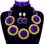<b>Handmade</b> Popular Purple Beads Bridal <b>Jewelry</b> Sets New Nigerian Wedding African Beads <b>Jewelry</b> Set Crystal Free Shipping ABF727