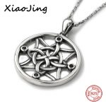New arrival 925 sterling silver round shape special knot pendant chain necklace European diy fashion <b>jewelry</b> <b>making</b> women gifts