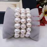 <b>Wedding</b> Woman <b>Jewelry</b> 10-13mm White Pearl Bracelet Elastic rope Natural Freshwater Pearl Bracelet different size pearl