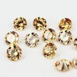 100pcs AAA Grade CZ Cubic Zirconia Champagne Round Zircon 8.0MM DIY <b>Jewelry</b> Findings <b>Supplies</b> Free Shipping