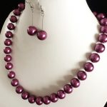 Violet smooth round shell 8mm charming simulated-pearl beads diy hot sale necklace earrings <b>jewelry</b> <b>making</b> 18 inch YE0051